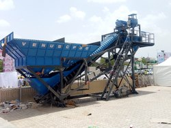 Batching Plant cross bin type at single chassis