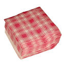 Check Paper Napkin, Size: 40 X 40 Cm