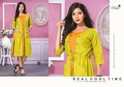 Paavi Presents Cool Time Jacket With Inner Kurti Collection