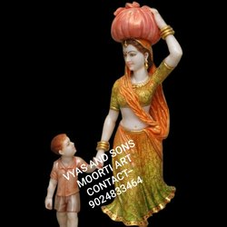 Marble Rajasthani Bani Thani Statue
