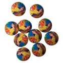 Tripti Products Round Printed Garment Buttons, Packaging Type: Box, For For Garments