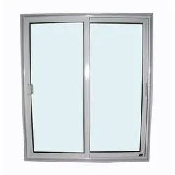 Silver Aluminium Sliding Window