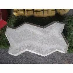 Solid Concrete Zig Zag Paver Block, For Floor
