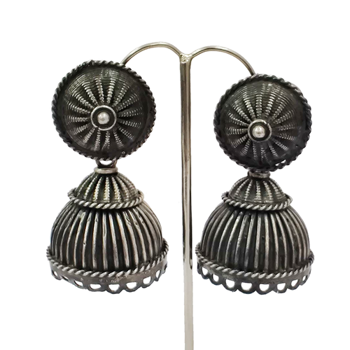 Handmade Victorian Earring 925 sterling silver Indian oxidized polish jewelry suppliers