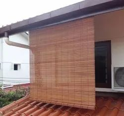 Balcony Bamboo Roller Blinds