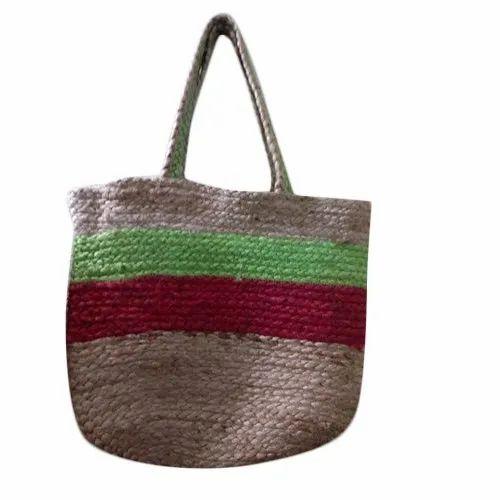 0c73a5926e Ladies Hand   Shopping Jute Bag - Handmade Jute Cotton Women s ...