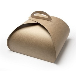 1 Kg Kraft Curved Cake Box with Handle