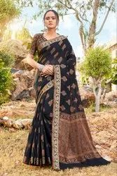 Surprising Soft Cotton Weaving Embroidered Casual Wear Saree