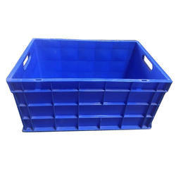 Blue Rectangular Jumbo Crate, Capacity: 50-100 L