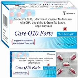Softgel Cap. Of Co-Enzyme Q10 L-Carnitine, Methylcobalamine Lycopene Multivitamin With DHA