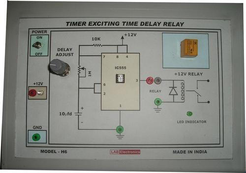 model h6 timer circuit exciting a time delay relay