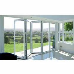 Slide & Fold Clear Glass UPVC Door