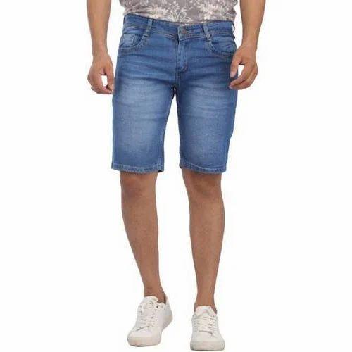 bdac83f5f6 Men Light Blue Denim Shorts, Rs 1439 /piece, SK Enterprises   ID ...