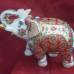 Decorated Elephants Statue