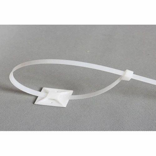 cbd4be9772b4 White Plastic Cable Tie Mounts, Rs 50 /packet, Shri Anirudha ...