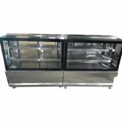 SSE Rectangle Stainless Steel Display Sweet Counter, For Hotel & Restaurant,Cake Shop