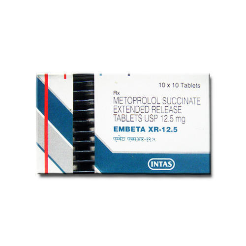 Intas Embeta XR 12 5 Tablet, Packaging Type: Strips   ID