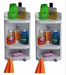 Parasnath Set of 2 Caddy Small Heavy Corner Cabinet Shelf