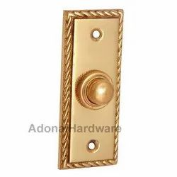 Brass Rectangular Georgian Bell Push