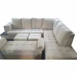 Wooden Modular Sofa Set With Table, Seating Capacity: 9 Seater