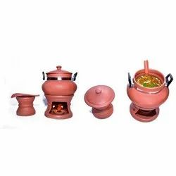 Glossy Reddish Brown Modern Fancy Mathani Catering Set, For Home