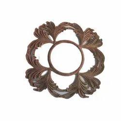 Antique Brown Wooden Mirror Frame