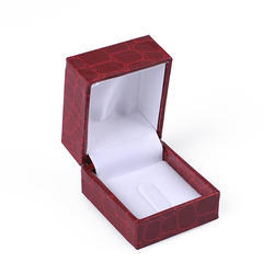 Maroon And White Faux Leather Ring Box