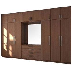 Brown Plywood Modular Wardrobe