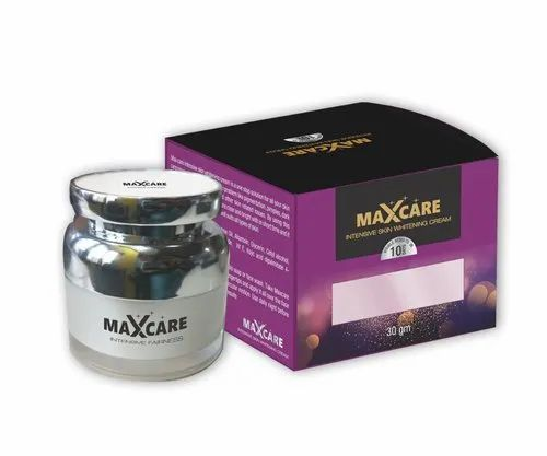 Max Care Intensive Skin Whitening Cream 30g for Personal, Type Of Packaging: Bottle