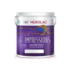 Nerolac Glitter Interior Premium Wall Paint, Packaging Type: Bucket, for Roller