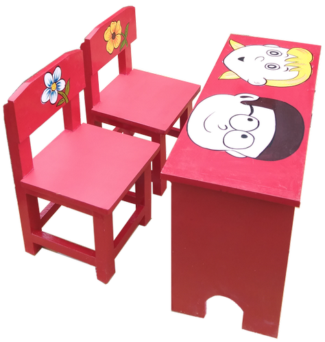 Kids Study Table Chair Set School, Pink Metal School Desk