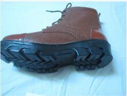 Men DMS Brown High Neck Shoes