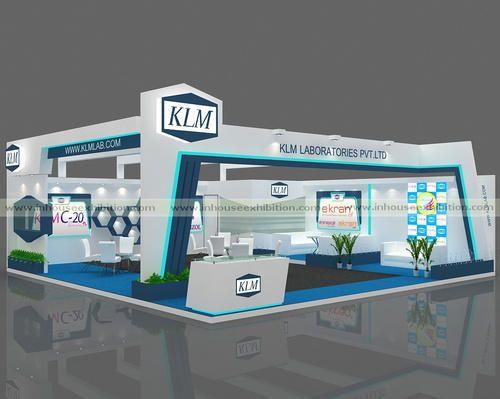 Exhibition Stalls : Blue white exhibition stalls size m rs onwards