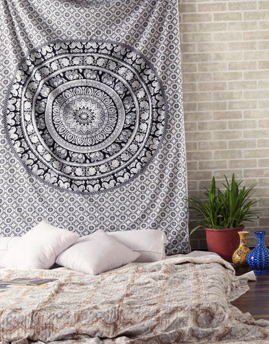 Cotton Indian Ethnic Mandala Printed Decorative Wall Hanging Tapestry