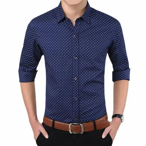 32e1216c Cotton Mens Dot Printed Casual Shirt, Size: XXL, Rs 480 /piece | ID ...