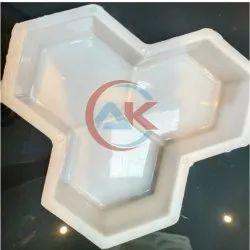 White Interlocking Paver Block Mould