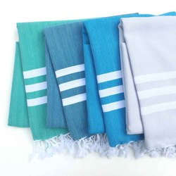 Ramesh Exports Stripped Eco Cotton Fouta Turkish Towels, Size: 80 X 160 Cm