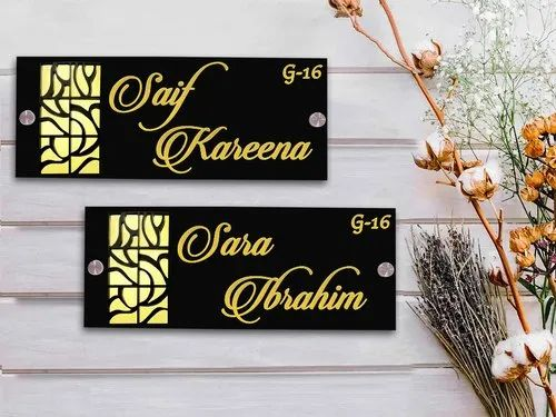 Karigaari India Customized Laser Cut Acrylic Home Decor Name Plate
