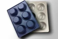 Alu. Steel Muffin Tray 6 in 1