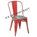 Red Metal Cafe Chair