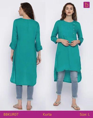 fc5586a9a12ba Tunic - Tunic Tops Tunics for Women Knee Length Kurta with Khadi Print and  Curved Hemline Kurta Tunic Dress Manufacturer from Bengaluru