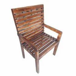 Modern Brown Arm Rest Wooden Chair, No Of Legs: 4