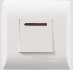 White Havells 32A DP Switch With Ind.
