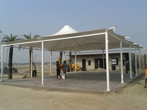 Pvc steel gazebo tensile structure rs 350 square feet vms