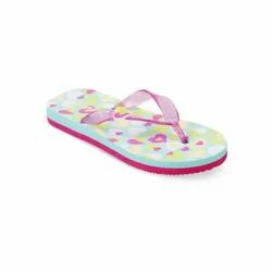 KTG759 GREEN Kids Printed Flip Flops