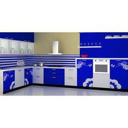 Kube L Shape Modern Modular Kitchen, Warranty: 1-5 Years