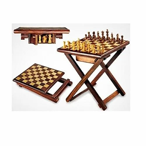 Folding Chess Table portable