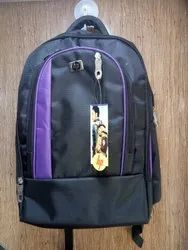 Black & Purple School Bag