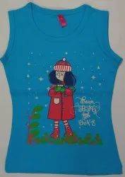 Girls Sleeve Less Kids T Shirt
