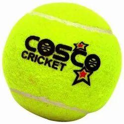 Rubber Yellow Cosco Cricket Tennis Ball